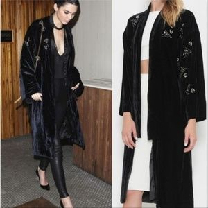 MONROE Soft & lux Velvet Robe Duster Jacket